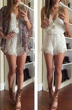 My One and Only Lace Romper
