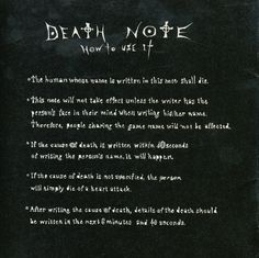 DEATH NOTE (How to use it)