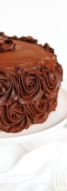 Chocolate Cake Recipe - i am baker Perfect Chocolate Cake, I Love Chocolate, Chocolate Shop, I Am Baker, Pretty Cakes, Let Them Eat Cake, Cupcake Cakes, Cake Icing, Cupcakes
