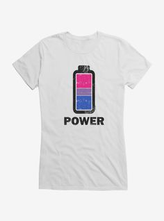 Hot Topic : i-Create Pride Bisexual Power Up Girls T-Shirt Bisexual Pride, Teen Girl Outfits, Casual Outfits, Mens Tops, T Shirt, How To Wear, Hot Topic, Create, Spun Cotton