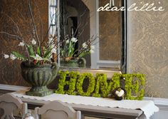 Dear Lillie: Moss Letters Tutorial and Some Fun with Textures