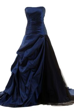 Delicately ruched taffeta over luxurious tulle gives this long prom dress a sexy look skirt adorned with pick -up accents. If you're looking for a strapless party dress for your prom, junior prom, or
