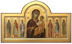 Iver icône de la Vierge avec les Saints sélectionné, l'icône peintre Dmitry Khomiakov