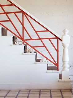 modern pop of color stair - Google Search