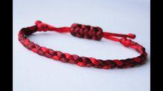 How to Make a 3 Strand Flat Braid Sliding Knot Friendship Bracelet- Satin Cord/Micro Cord - YouTube