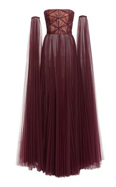 Plissé-Organza Strapless Gown by J. Ball Dresses, Ball Gowns, Evening Dresses, Prom Dresses, Formal Dresses, Pretty Outfits, Pretty Dresses, Fantasy Gowns, Looks Style