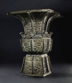 Fangzun wine vessel from the late Shang dynasty