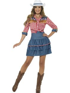 2020 Smiffy's Women's Rodeo Doll Costume and more Cowgirl Costumes for Women, Women's Halloween Costumes for Cowgirl Costume For Women, Cowboy And Indian Costume, Cowgirl Fancy Dress, Indian Fancy Dress, Cowgirl Halloween Costume, Fancy Dress Womens, Cowgirl Outfits, Halloween Outfits, Costumes For Women