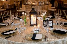 Love the picture frame table numbers