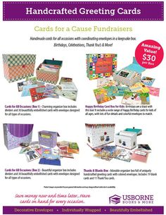 Cards for a Cause Fundraisers! Great fundraising idea!