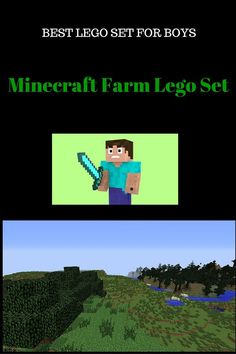 minecraft farm lego set is one of the best Minecraft Legos! These are great building toys and legos for older boys aged 7 years and upwards! Minecraft toys like these are popular toys for 8 year old boys!