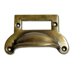Gado Gado HBP7022 Classic Bin Pull, Antique Brass - Knobs and Hardware