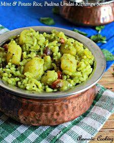 Aromatic Cooking: Mint And Potato Rice, Pudina Urulai Kizhangu Saadam
