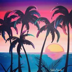 inspired art by Yoko Honda Polo & Pan, Illustrations, Illustration Art, 80s Posters, Image Tumblr, 90s Art, Palmiers, Retro Waves, Mural Art
