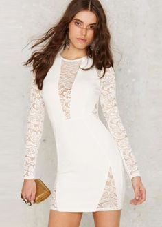 White Lace Patch Cut Out Bodycon Dress http://www.asoshow.com/lists/cid/womens-bodycon-dresses-15.htm?&page=7