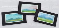 """A walk in the mountains always makes me smile!  You can bring the outdoors in with these happy mountain original paintings.  Now, available @thewhitebrickhouse and the @mountainviewvintagemarket in October.  Mountain Love Collection 5""""x9"""" Mixed Media Fine Art    """"In every walk with nature one receives far more than he (or she) seeks."""" - John Muir Bedford Va, White Brick Houses, John Muir, Happy Heart, Make Me Smile, Are You Happy, Original Paintings, Finding Yourself, Mixed Media"""