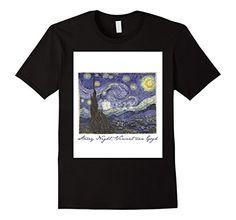 Men's Vincent van Gogh Starry Night 2XL Black Handsome Sh…