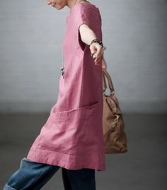 Love the big side pocket http://www.etsy.com/listing/104340979/totally-free-casual-linen-dress-custom
