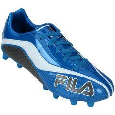 Chuteira Fila Agile FG – Azul e Branco - http://batecabeca.com.br/chuteira-fila-agile-fg-azul-e-branco-netshoes.html