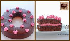 Pastel de chocolate y frambuesas. Blog: Dulces Bocados