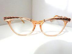 4f7f37900c 1950s Zylite Winged Cat Eye Horn Rim Eye Glasses. Vision EyeVintage  FramesCat ...