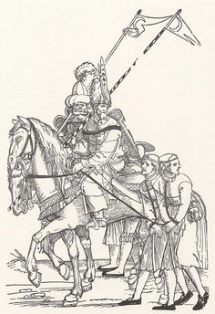 Title: Zwei Türken mit vier Gefangenen              Tags: Trossfrau, Pouch, Sword, Prisoner              Date: 1529                        Artist: Erhard Schoen              Provenance: Germany              Collection: Kupferstichkabinett