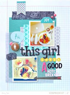 this girl by amytangerine at Studio Calico using the Block Party scrapbook kit and add ons