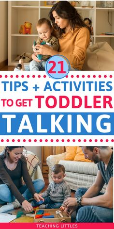 Teach your toddler to start talking with these simple tips. Do this everyday and will your 1 or 2 year old will start developing language quickly. Montessori Activities, Infant Activities, Preschool Activities, Children Activities, Educational Activities, Toddler Learning, Toddler Preschool, Preschool Prep, Toddler Play