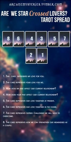 Are We Star Crossed Lovers Tarot Spread.