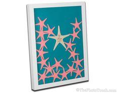 Drop in the Top Starfish Wedding Guest Book by WeddingGuestBookCo.com