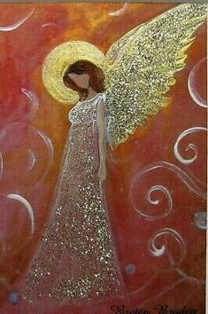 Angel Artwork, I Believe In Angels, Angel Crafts, Angel Pictures, Guardian Angels, Angel Ornaments, Bible Art, Christmas Angels, Painting Inspiration