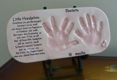 Hand prints poem.