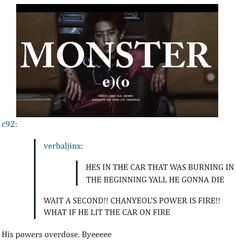 Chanyeol in the car theory^.^