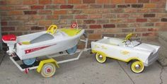 Just a car guy : a very clever pedal car owner made a trailer for the pedal car boat!