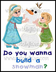 Cold Building a Snowman3 versions  Applique Machine by CuteByKira, $5.00