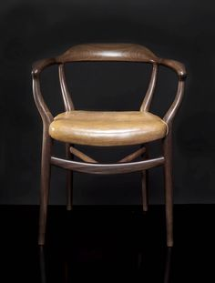 "RARE TEAK AND ORIGINAL COGNAC LEATHER NV-44 "" BONE"" ARMCHAIR BY FINN JUHL – 1944 74 x 60 x 48 cm (29,13 x 23,62 x 18,90 in.)"