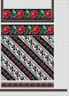 Gallery.ru / Фото #23 - цветы+орнамент - karabina Cross Stitch Borders, Cross Stitch Rose, Cross Stitching, Cross Stitch Patterns, Folk Embroidery, Cross Stitch Embroidery, Embroidery Patterns, Palestinian Embroidery, Vintage Cross Stitches