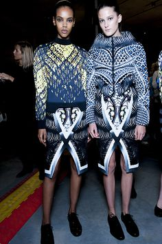 Check Peter Pilotto AW13 backstage snaps as seen in the Topshop Showspace as part of the NEWGEN sponsorship scheme. #TOPSHOP  #LFW  #AW13  #NEWGEN
