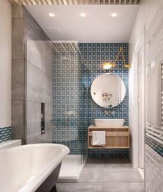 Beautiful design with tile accent wall. Simple space