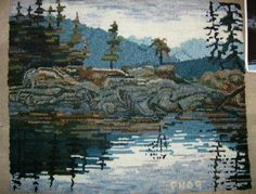 """""""Ode to Desolation Sound"""" hand hooked by Pat Niell"""