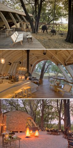 andBeyond Sandibe Okavango Safari Lodge offers you luxury safari accommodation in the Okavango Delta in Botswana. Book now with Africa Sky. Game Lodge, African Home Decor, Fairy Garden Houses, Geodesic Dome, Treehouses, Camps, Lodges, Vacation Spots, Cottages
