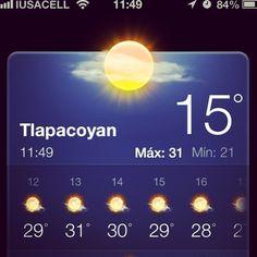 La #temperatura que nos ofrece #Tlapacoyan este día es excelente para conocer el río #filobobos en #Veracruz dale #MeGusta http://www.facebook.com/RioFilobobosVeracruz #Rafting #Mexico