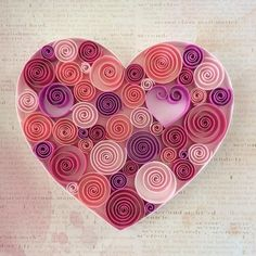 Items similar to Pink Heart. on Etsy - Quilling Paper Crafts Paper Quilling Cards, Paper Quilling Patterns, Quilled Paper Art, Quilling Paper Craft, Paper Crafts, Diy Quilling Projects, Paper Quilling For Beginners, Quilling Techniques, Valentine Day Crafts