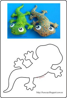 Kosucas: Reptiles de tela: lagartos y serpientes. Patrones.