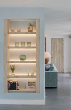 best Ideas for wall partition design floors Living Room Partition Design, Living Room Divider, Room Partition Designs, Living Room Shelves, Living Room Kitchen, Home Living Room, Living Room Designs, Living Room Decor, Living Room Entrance Ideas