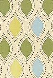 Schumacher's Let's Dance 54780 Chartreuse & Sky is the inspiration fabric for the Laundry Room.  Paint colors were chosen from this swatch.