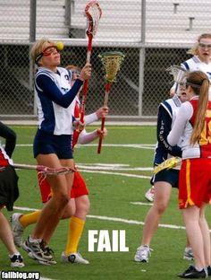 Lacrosse fail.