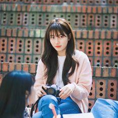 Korean Bangs Hairstyle, Instyle Magazine, Cosmopolitan Magazine, Bae Suzy, Korean Actresses, Korean Model, Korean Beauty, Girls Generation, School Outfits