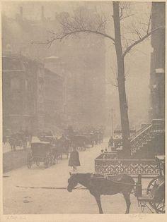 A. Stieglitz.The Street, Fifth Avenue.   1900-1901.