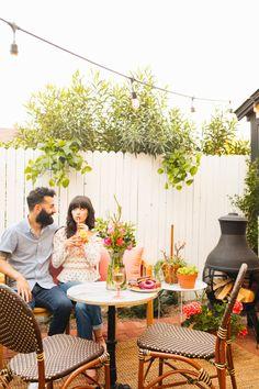 New Darlings - Backyard Remodel - Parisian Style - Small Backyard Landscaping, Ponds Backyard, Landscaping Ideas, Backyard Ideas, Outdoor Glider, New Darlings, Backyard Makeover, Garden Planning, Outdoor Furniture Sets
